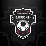 University championship, soccer logo. University championship, soccer logo, emblem Vector illustration Royalty Free Stock Photography