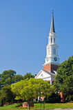University chapel steeple. A view of the tall steeple of the campus chapel at the University of Maryland Stock Images
