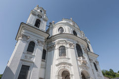 University Church in Salzburg, Austria Stock Images