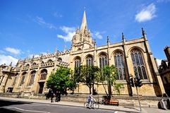 University church of St Mary, Oxford. Stock Photos