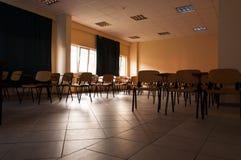 University Classroom. Classroom of a university under the setting sun Royalty Free Stock Photos