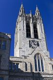 University Clock Tower. Gothic clock tower at boston college royalty free stock images