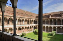 University cloister, Milan Stock Photos