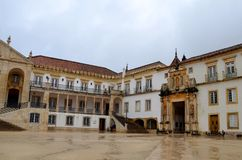 University of Coimbra, established in 1290, one of the oldest universities in the world. UNESCO World Heritage. Site.Portugal royalty free stock photos