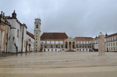 University of Coimbra, established in 1290, one of the oldest universities in the world. UNESCO World Heritage. Site.Portugal royalty free stock image