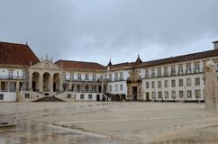 University of Coimbra, established in 1290, one of the oldest universities in the world. UNESCO World Heritage. Site.Portugal royalty free stock photography