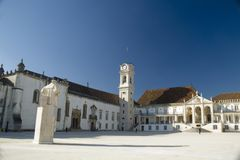 University of Coimbra, Portugal. The university of Coimbra, oldest university of Portugal Stock Images