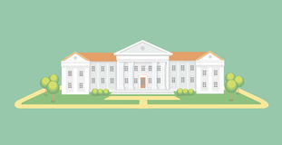 University or college building.  Campus graduation university, Education vector illustration Royalty Free Stock Photo
