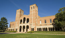 University College Campus. University campus at a Los angeles school. Old Royce Hall Stock Photos