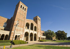 University College Campus Lawn. University campus lawn at a Los angeles school. Royce Hall Royalty Free Stock Photo