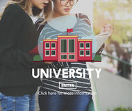 University College Diploma Degree Education Concept.  Stock Image