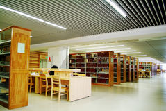 University--College  Library Learning Area Stock Image