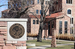 The University of Colorado Boulder Royalty Free Stock Photography
