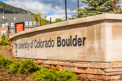 University of Colorado Boulder Sign Royalty Free Stock Images