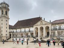University of Comibra of Portugal under raining