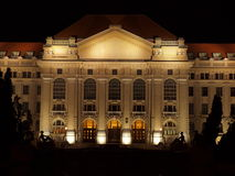 University of Debrecen at night Royalty Free Stock Photos