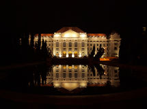 University of Debrecen at night Stock Photos