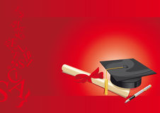 university degree college greeting card red Royalty Free Stock Image