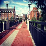 University of DELAWARE. Newark, DE. Bridge to Laird Campus royalty free stock image