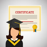 University design. graduation and education illustration Royalty Free Stock Image