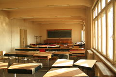 University disordered classroom Stock Images