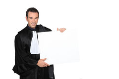 University don in graduation robe Royalty Free Stock Photos