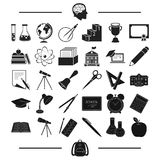 University, education, attributes and other web icon in black style.brush, pen, backpack, icons in set collection. Royalty Free Stock Photo
