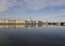 University Embankment. St.-Petersburg. View from the Neva River Royalty Free Stock Photos