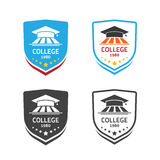 University emblem vector, concept of school crest symbol. University emblem vector illustration  on white background, concept of school crest emblem, college Royalty Free Stock Image