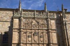 University Facade, Salamanca; Spain Royalty Free Stock Images