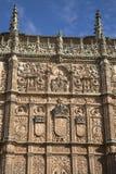 University Facade, Salamanca; Spain Stock Images