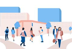 University Flat Design stock illustration