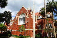 University of Florida building. A red brick building in University of Florida Stock Photos