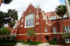 University of Florida building. A red brick building in University of Florida Royalty Free Stock Photo