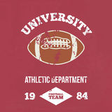 University football athletic dept. Vector Stock Image