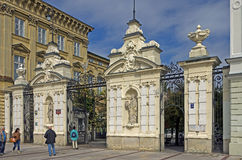 Warsaw university gate Stock Photo