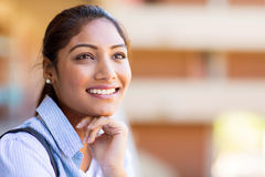 University girl daydreaming Stock Photos