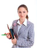 University girl holding books Royalty Free Stock Image