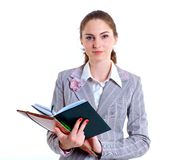 University girl holding books Stock Image