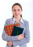 University girl holding books Stock Photography