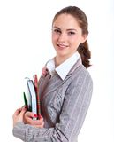 University girl holding books Royalty Free Stock Images