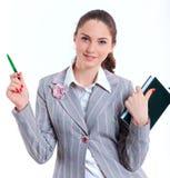 University girl holding books Royalty Free Stock Images