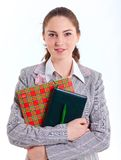 University girl holding books Stock Images