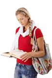 University girl reading book Royalty Free Stock Images