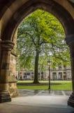 University of Glasgow inner courtyard. Scotland Royalty Free Stock Photos