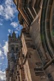 University of Glasgow, Scotland, UK. University of Glasgow, Scotland, Architecture and travel in Scotland, spring in Glasgow Stock Photos