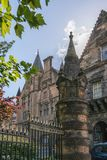 University of Glasgow, Scotland, UK. University of Glasgow, Scotland, Architecture and travel in Scotland, spring in Glasgow Stock Photography