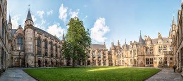 University of Glasgow, Scotland, UK. University of Glasgow, Scotland, Architecture and travel in Scotland, spring in Glasgow Royalty Free Stock Photography