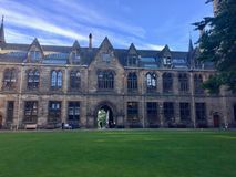 University of Glasgow, Scotland, UK. University of Glasgow, Scotland, Architecture and travel in Scotland, spring in Glasgow Royalty Free Stock Photo