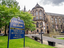 University of Glasgow. View of one of the beautiful University of Glasgow buildings stock image